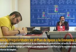 IU denuncia irregularidades en el Plan de Apoyo a la Economía Local