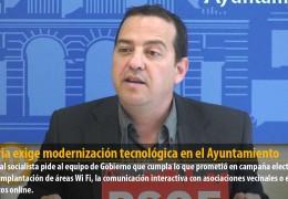 Segovia exige modernización tecnológica en el Ayuntamiento
