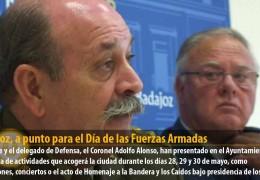Badajoz, a punto para el Día de las Fuerzas Armadas