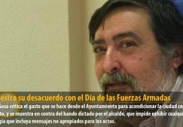IU muestra su desacuerdo con el Día de las Fuerzas Armadas