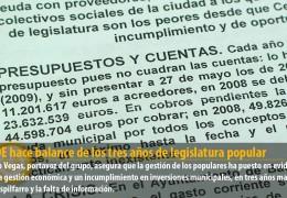 El PSOE hace balance de los tres años de legislatura popular