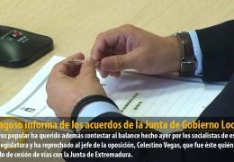 F.J. Fragoso informa de los acuerdos de la Junta de Gobierno Local