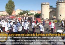 419 personas participan en la Jura de Bandera de Puerta de Palmas