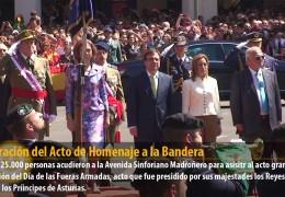 Celebración del Acto de Homenaje a la Bandera