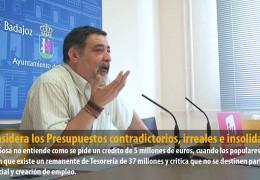 IU considera los Presupuestos contradictorios, irreales e insolidarios