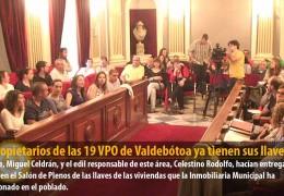 Los propietarios de las 19 VPO de Valdebótoa ya tienen sus llaves