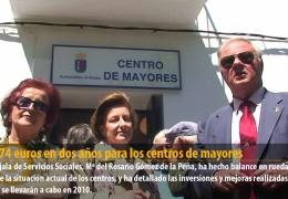 273.474 euros en dos años para los centros de mayores