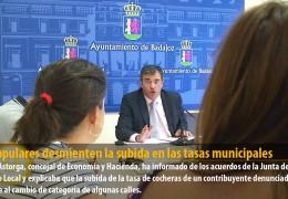 Los populares desmienten la subida en las tasas municipales