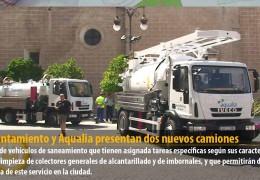 El Ayuntamiento y Aqualia presentan dos nuevos camiones