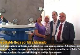 El agua potable llega por fin a Alvarado