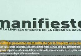 Los socialistas presentan un manifiesto por la limpieza en la ciudad