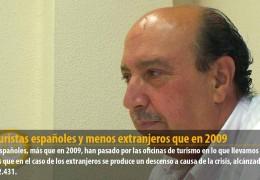 Más turistas españoles y menos extranjeros que en 2009