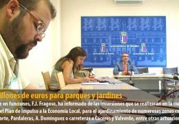 1,3 millones de euros para parques y jardines
