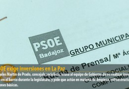 El PSOE exige inversiones en La Paz