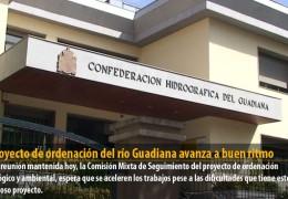 El proyecto de ordenación del río Guadiana avanza a buen ritmo