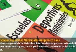 Las Escuelas Deportivas Municipales cumplen 25 años
