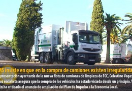 El PSOE insiste en que en la compra de camiones existen irregularidades