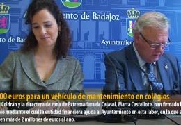 20.000 euros para un vehículo de mantenimiento en colegios