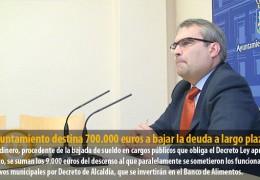 El Ayuntamiento destina 700.000 euros a bajar la deuda a largo plazo