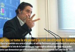 IU exige que se tome la vía penal o la civil con el Canal de Badajoz