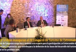 Vara y Celdrán inauguran el IV Congreso de Turismo de Extremadura