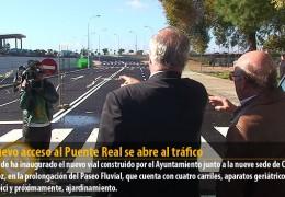 El nuevo acceso al Puente Real se abre al tráfico