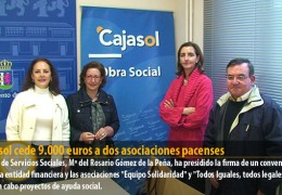 Cajasol cede 9.000 euros a dos asociaciones pacenses