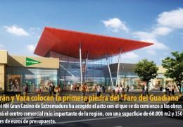 """Celdrán y Vara colocan la primera piedra del """"Faro del Guadiana"""""""