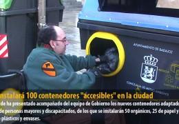 """FCC instalará 100 contenedores """"accesibles"""" en la ciudad"""