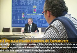 Fragoso destaca la situación económica del Ayuntamiento