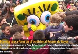 Bob Esponja causa furor en el tradicional Roscón de Reyes