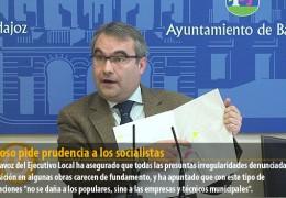Fragoso pide prudencia a los socialistas