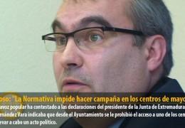 """Fragoso: """"La Normativa impide hacer campaña en los centros de mayores"""""""