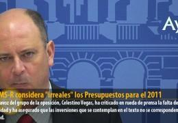 """EL GMS-R considera """"irreales"""" los Presupuestos para el 2011"""