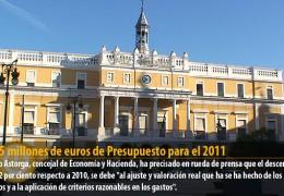 112,5 millones de euros de Presupuesto para el 2011