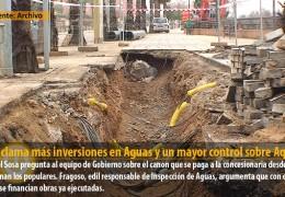 IU reclama más inversiones en Aguas y un mayor control sobre Aqualia