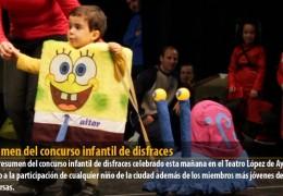 Resumen del concurso infantil de disfraces