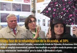 La primera fase de la rehabilitación de la Alcazaba, al 30%