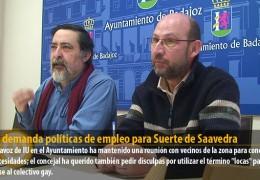 Sosa demanda políticas de empleo para Suerte de Saavedra