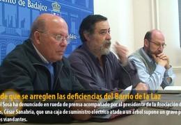 IU pide que se arreglen las deficiencias del Barrio de la Laz