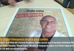 Nando Juglar interpreta música para sordos