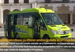 Dos nuevos microbuses ya ofrecen servicio gratuito en el Casco Antiguo