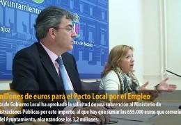 2,6 millones de euros para el Pacto Local por el Empleo