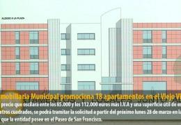 La Inmobiliaria Municipal promociona 18 apartamentos en el Viejo Vivero