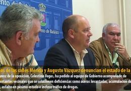 Vecinos de las calles Mérida y Augusto Vázquez denuncian el estado de la zona