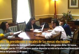 Elegidos los presidentes y vocales de las mesas electorales