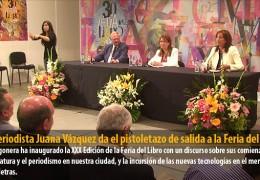 La periodista Juana Vázquez da el pistoletazo de salida a la Feria del Libro