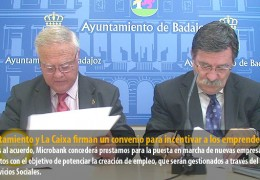 Ayuntamiento y La Caixa firman un convenio para incentivar a los emprendedores