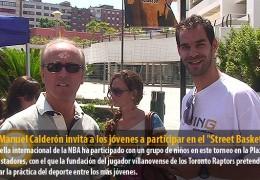"""José Manuel Calderón invita a los jóvenes a participar en el """"Street Basket Tour"""""""