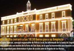La Feria de Día cerrará a las 18:30 horas para su limpieza